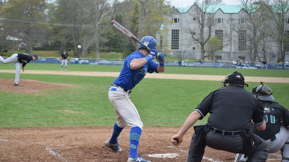 Salve Regina awaits its opponent for an elimination game after falling to Nichols College 9-1 (Photo by Angelo Domina).