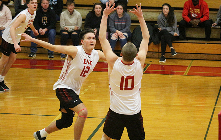 Men's Volleyball Edges Regis in Five Sets