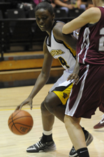 Junior center Tope Obajolu scored a career-high 20 points against Hartford.