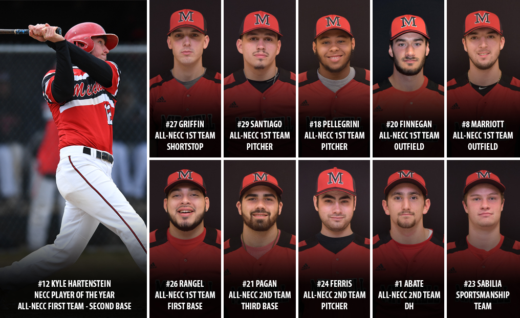 Baseball Has 11 Honored by NECC