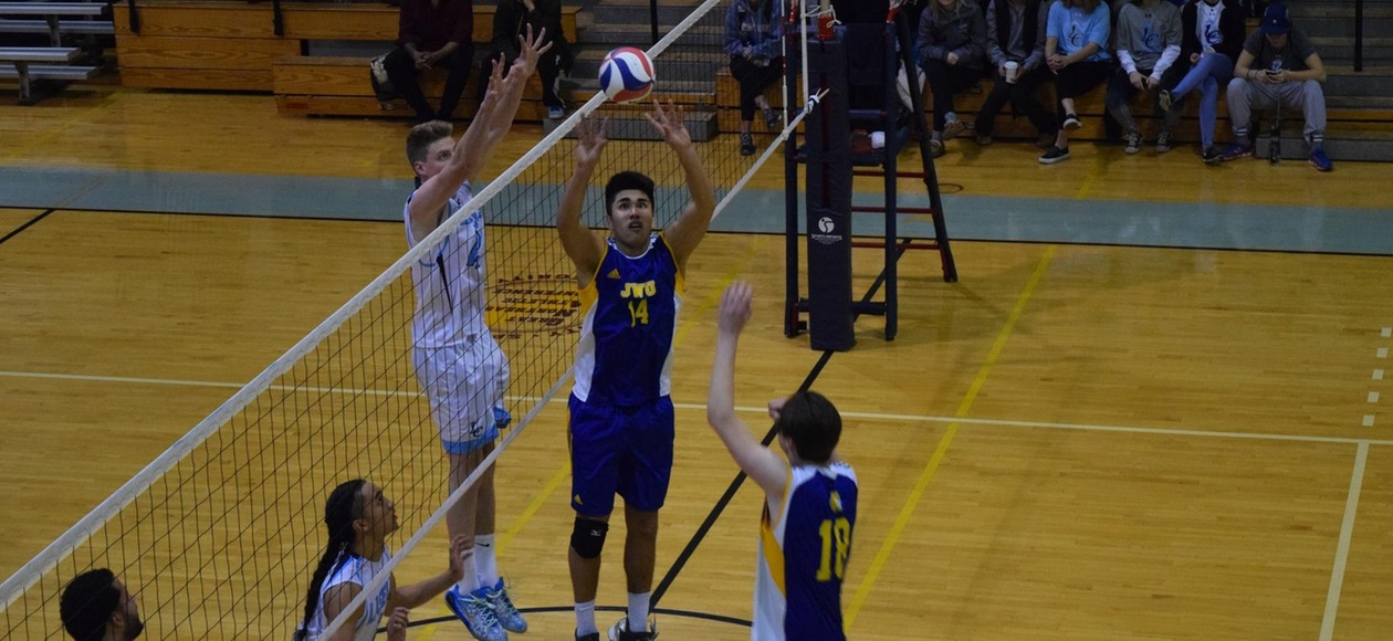 Men's Volleyball Loses a Pair at SUNY Poly Invitational