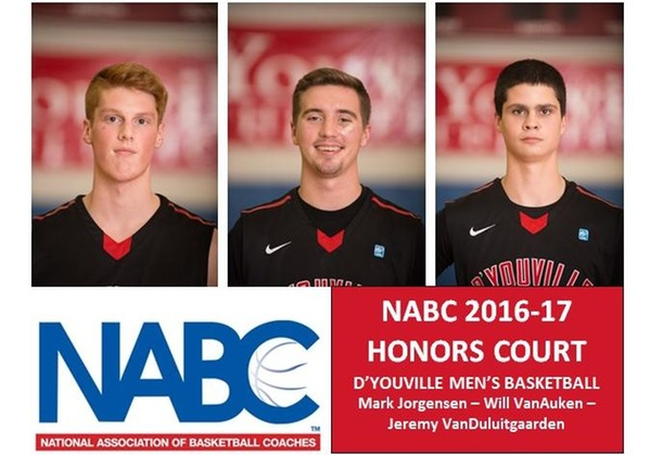 NABC Names Three D'Youville Men's Basketball Players to 2016-17 Honors Court