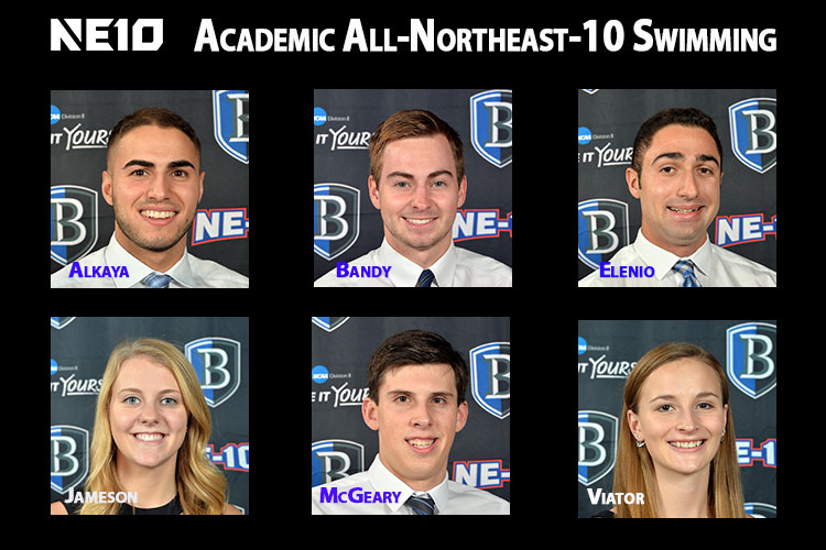 Six Bentley Swimmers Receive Academic Northeast-10 Honors