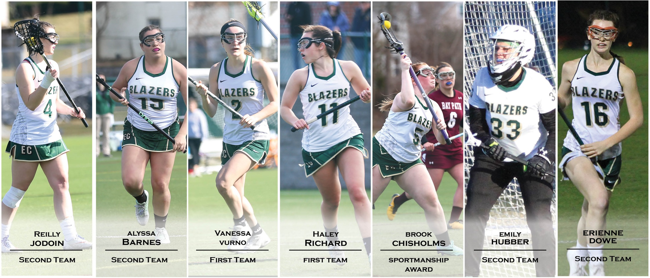 Women's Lacrosse Places Seven On NECC All-Conference Team