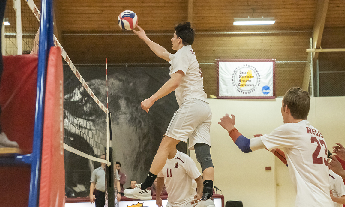 Regis Men's Volleyball Pulls Out First Win of 2019