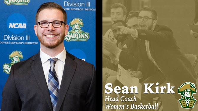 SEAN KIRK NAMED FRANCISCAN UNIVERSITY HEAD WOMEN'S BASKETBALL COACH