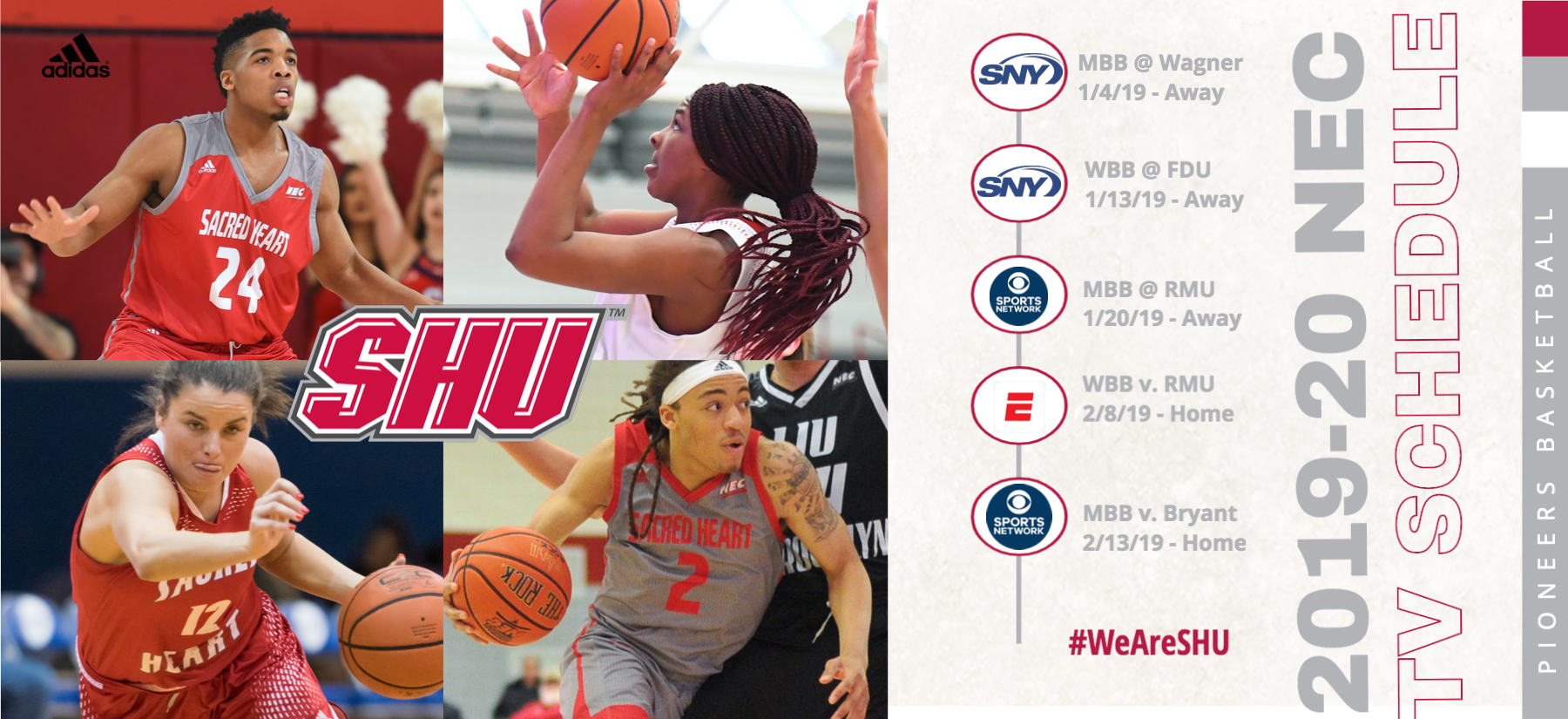 SHU basketball will have five games as part of the 2019-20 NEC broadcast schedule.