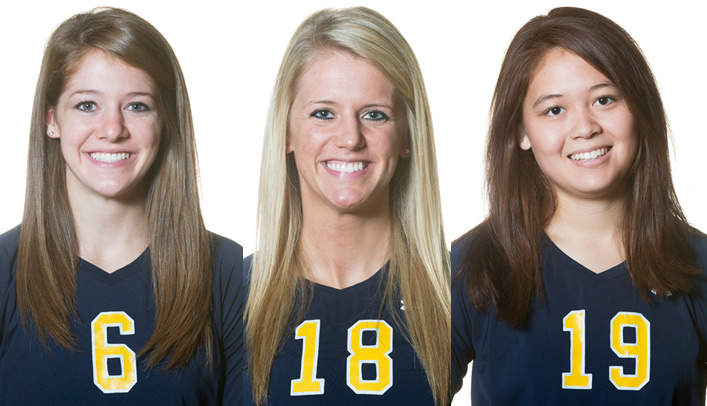 Three Blugold Volleyball Players Honored by WIAC