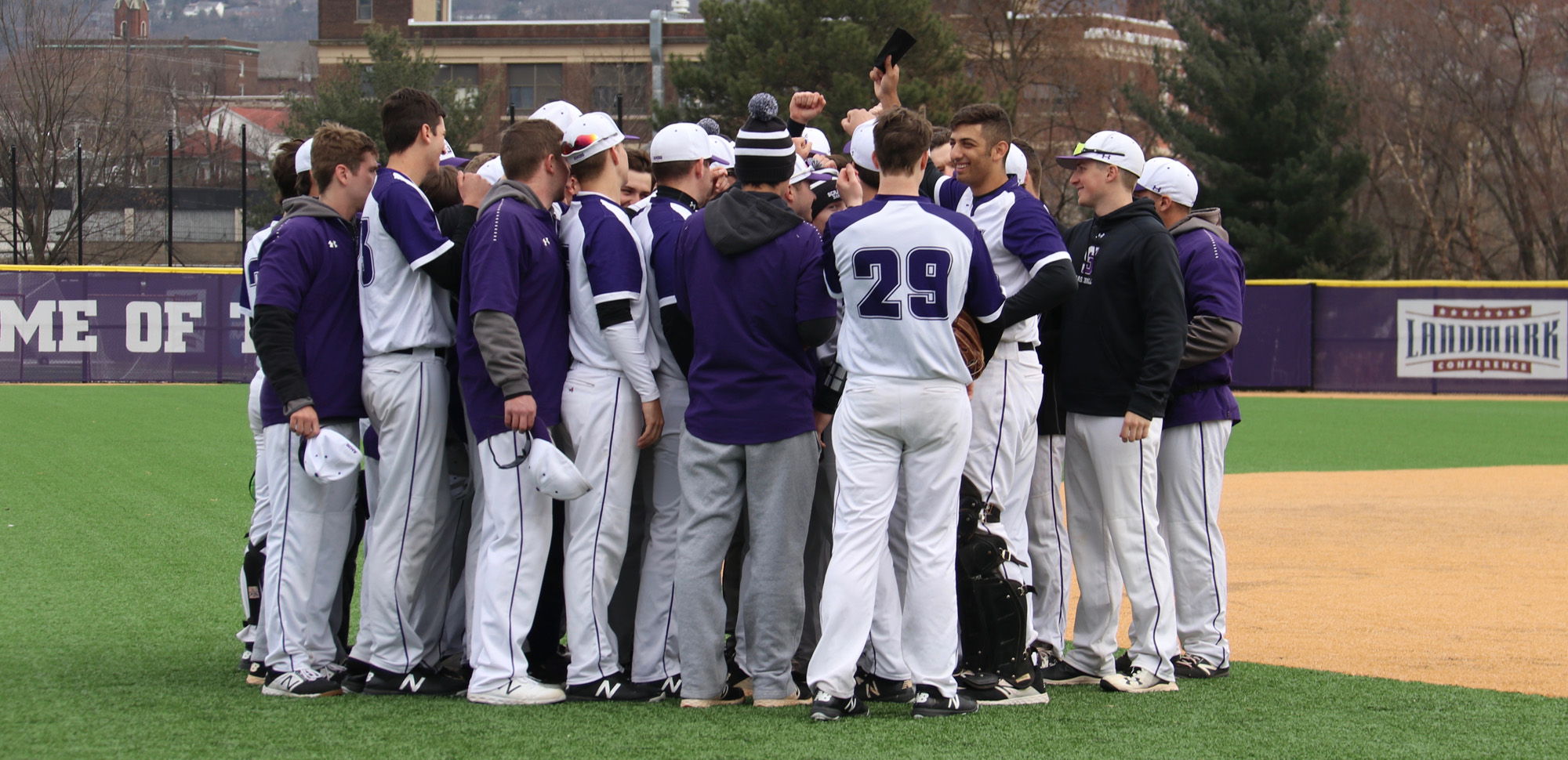 The baseball team's season ended with a heartbreaking, 10-inning loss to Catholic on Saturday at the Landmark Conference Championships. © Photo by Timothy R. Dougherty / doubleeaglephotography.com