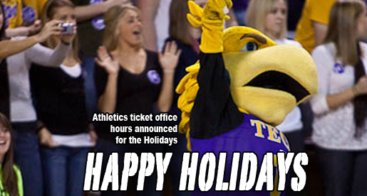 Ticket office holiday hours announced; Tickets make great gifts (hint, hint)