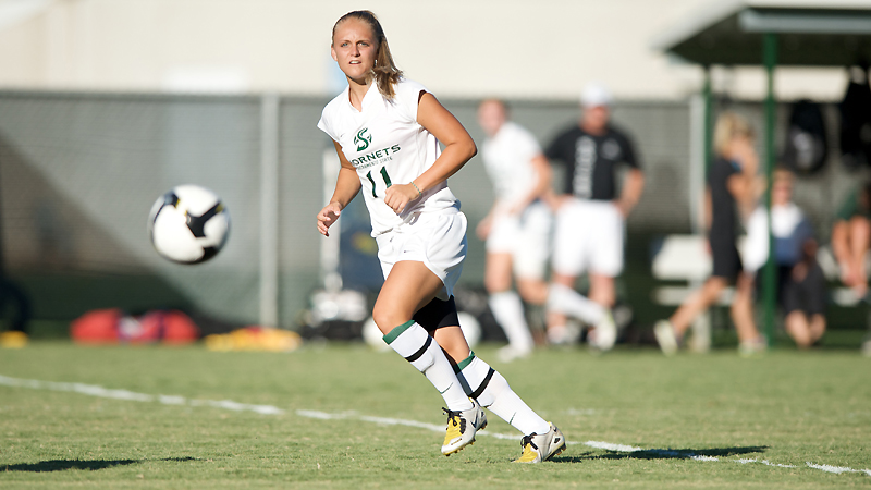 Elece McBride scored the game-winning goal against Nevada in the 82nd minute.