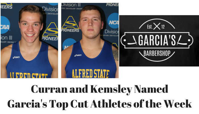 Zach Curran and Paul Kemsley - Garcia's Athletes of the Week