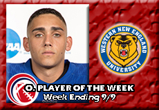 Alec Coleman-Western New England, CCC Football: Offensive Player of the Week