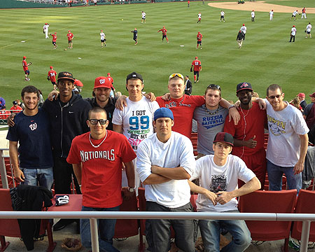 GU baseball team at Nationals Park