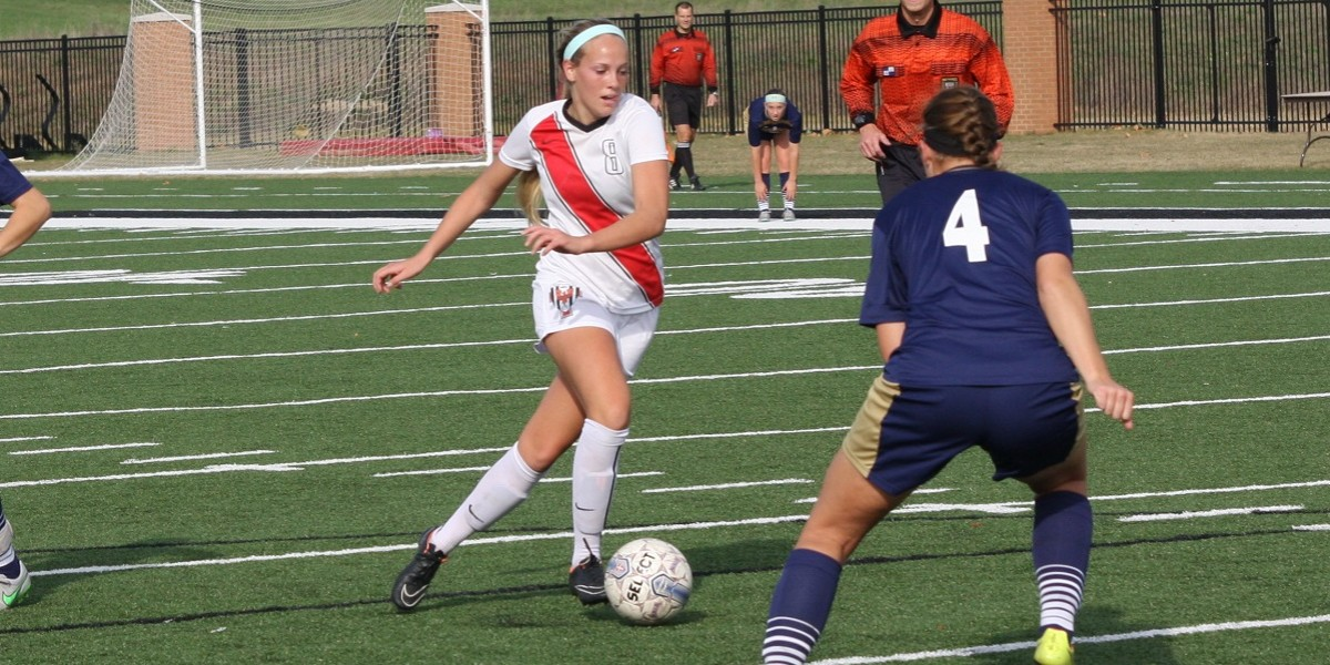Emke scores first half goal in the Cardinals 2-0 victory over Cornerstone.
