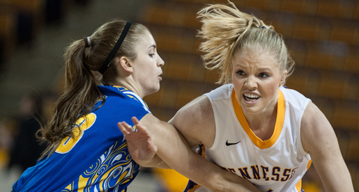 Golden Eagle women clinch top spot in East with convincing win over MSU