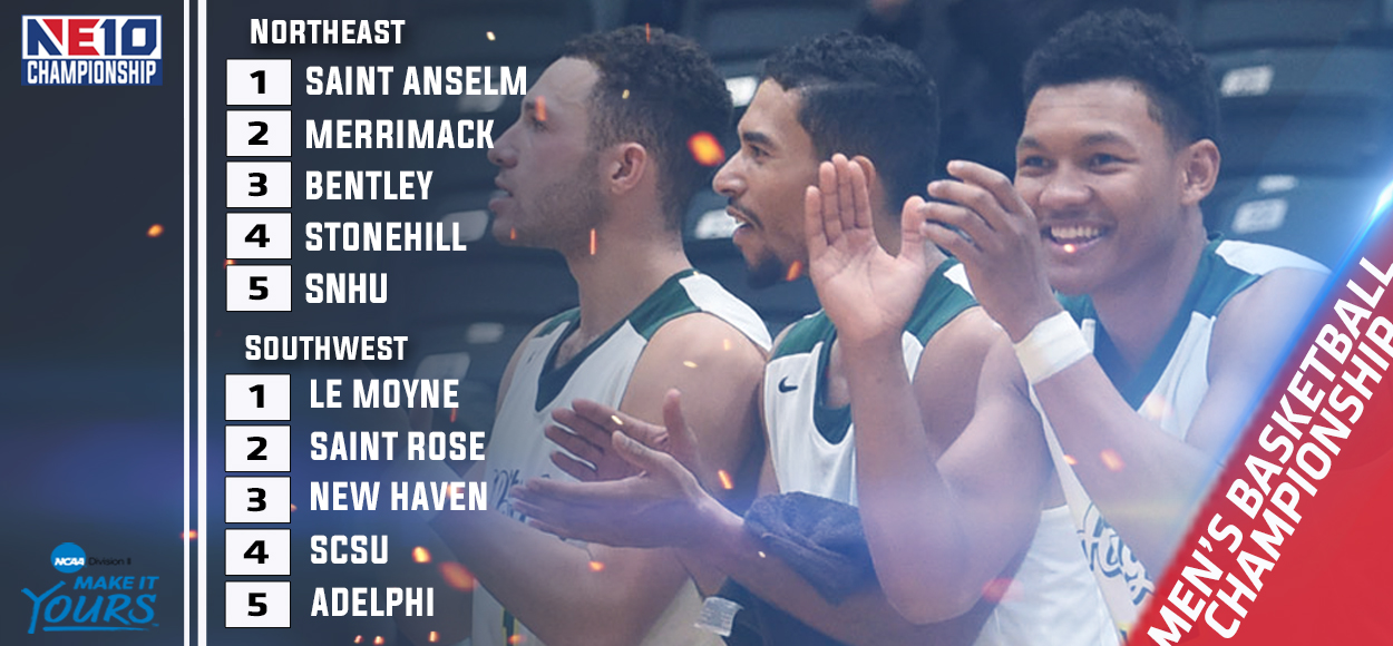 Embrace The Championship: Le Moyne, Saint Anselm Top Seeds for NE10 Men's Basketball Championship