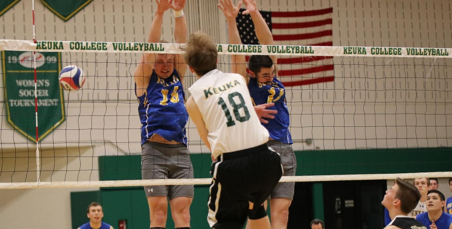 Brad McKnight (18) led the Wolves with 14 kills on Friday -- Photo by Sarah Tyler
