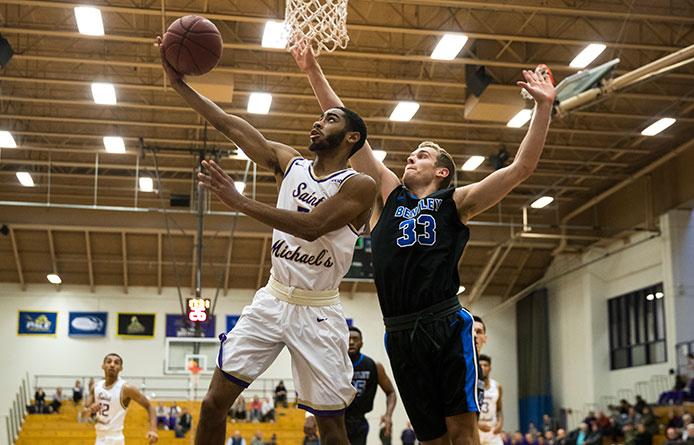 men's basketball yields late run to regionally-ranked bentley in