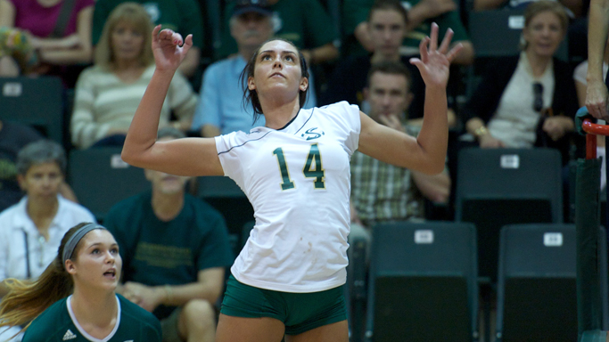 VOLLEYBALL DROPS HOME MATCH TO PORTLAND STATE
