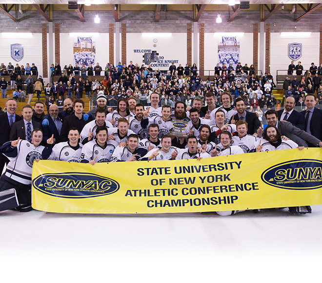 Geneseo wins 2018 SUNYAC men's ice hockey title