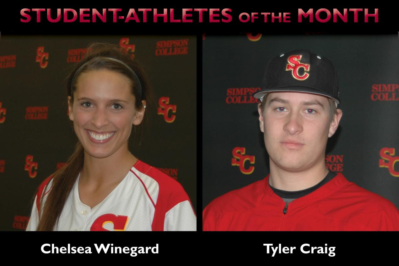 Winegard, Craig named Student-Athletes of the Month