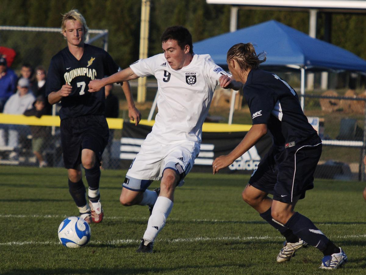 Brown's Hat Trick Lifts CCSU Past Bryant