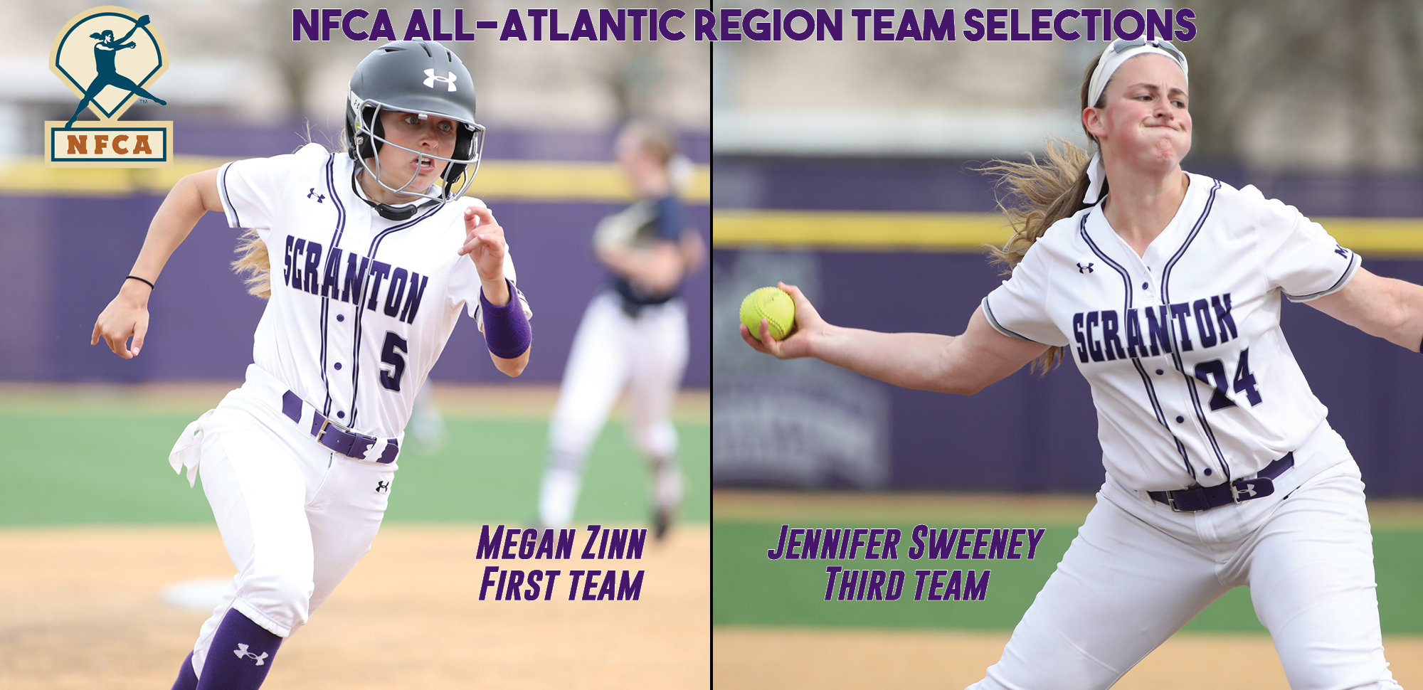 Softball's Zinn, Sweeney Named to NFCA Division III All-Atlantic Region Teams