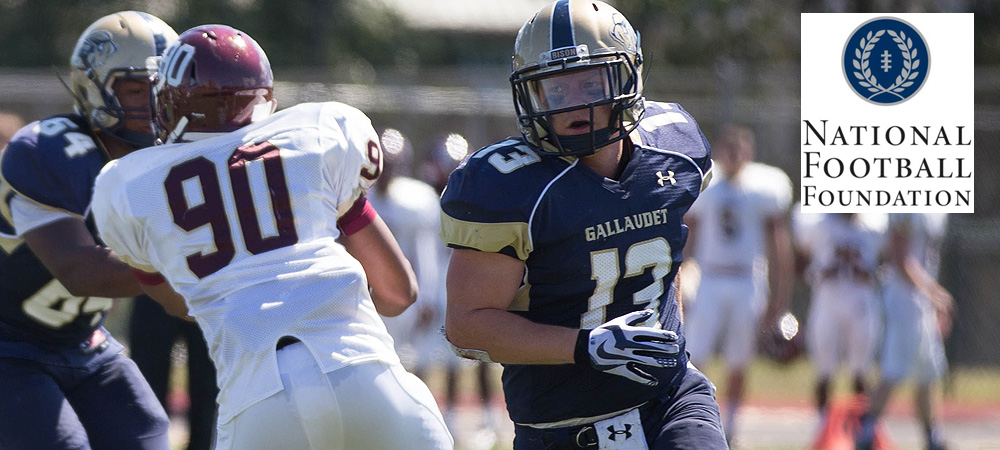 Gallaudet football places five student-athletes on the 2014 NFF Hampshire Honor Society