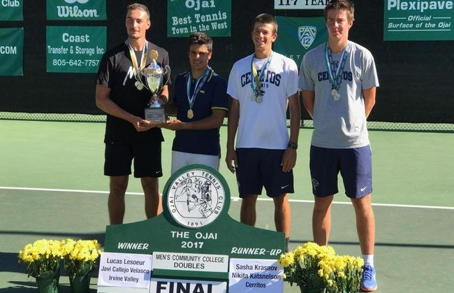 Men's tennis player Javier Callejo earns rare triple crown at Ojai