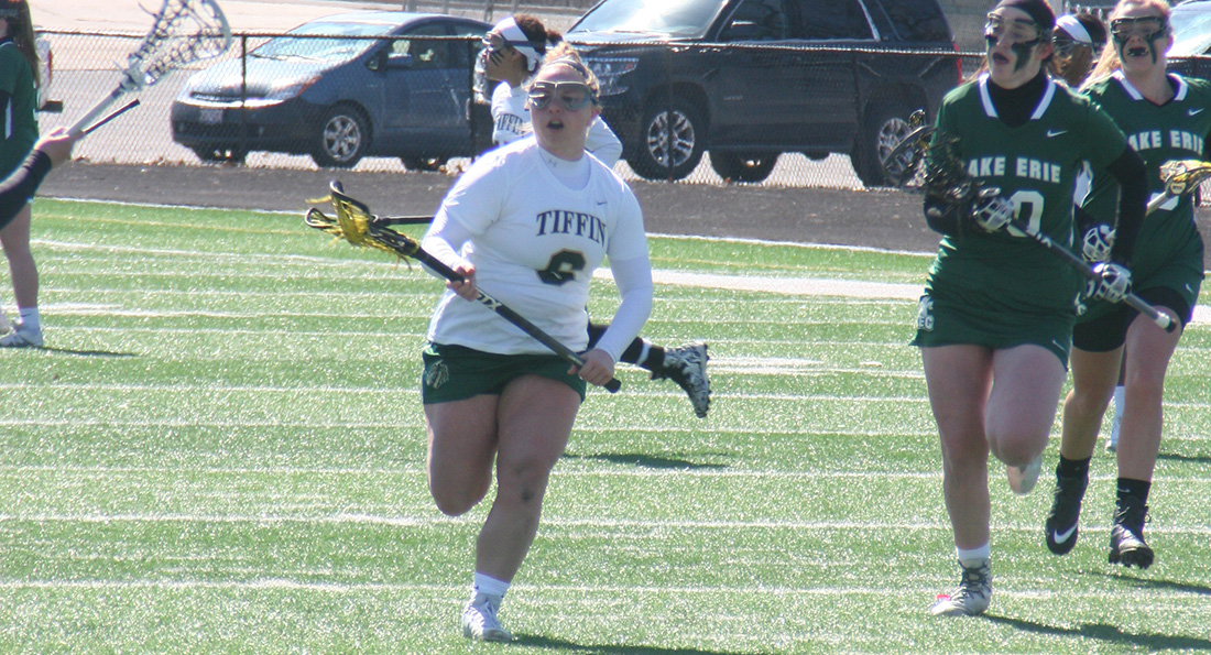 Amanda Flotteron finished with three goals in Tiffin's close loss to the University of Indianapolis on Sunday afternoon.