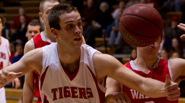 Scott Masin kept his eye on the ball, and the Wittenberg Tigers advanced to the NCAC Tournament semifinals for the 22nd time in 24 years. File Photo | Erin Pence