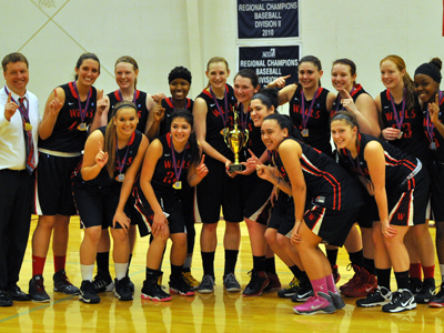 NEAC CHAMPIONS! Women's Basketball Upsets Lancaster Bible, 67-60
