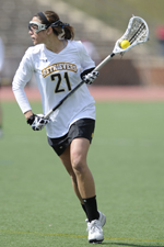 Amanda Pappas scored six goals in two games at the America East Championship.