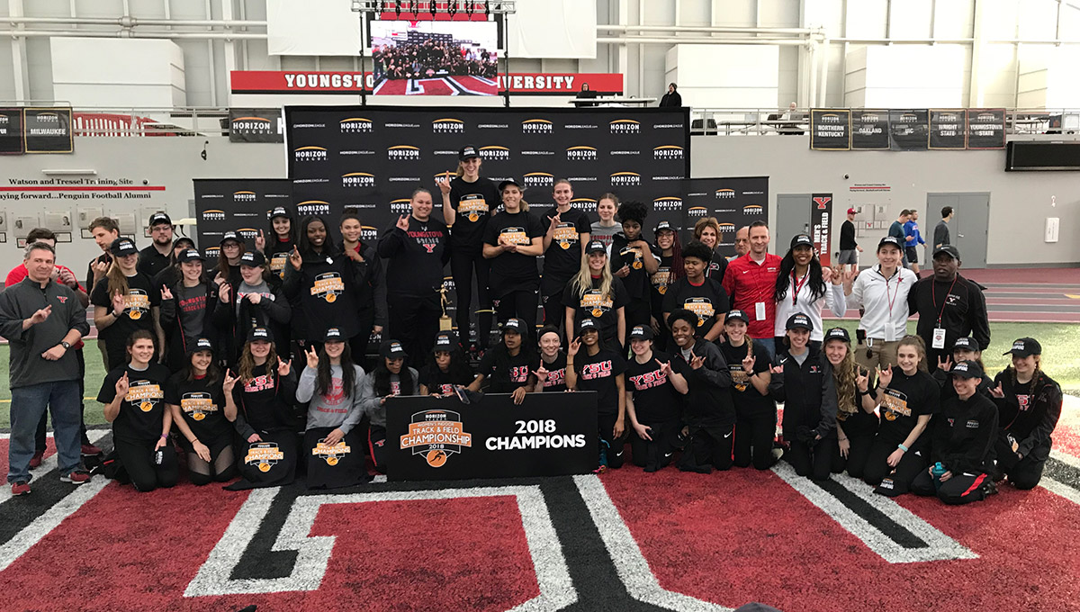 The YSU women won their seventh Horizon League Indoor Track and Field Championship.
