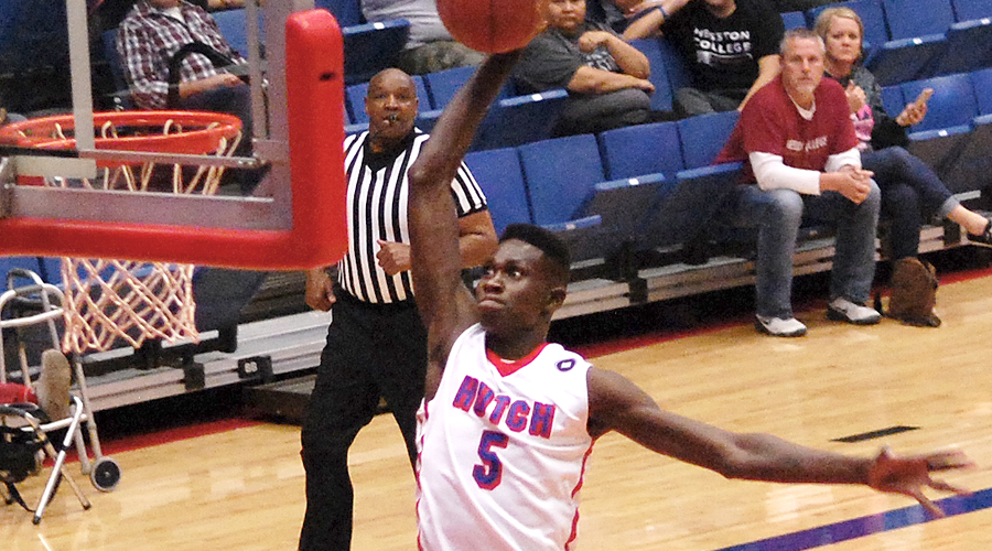 Fred Odhiambo scored a career-high 15 points in No. 14 Hutchinson's 102-86 victory on Saturday at Allen.