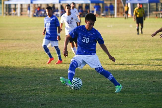 File Photo: Edwin Corona (30) had a couple of good scoring chances in the Falcons 1-0 loss to Compton