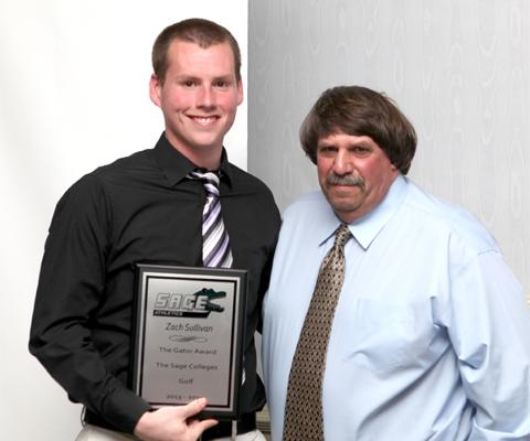 Sullivan honored as 2013-2014 Gator of the Year in Men's Golf
