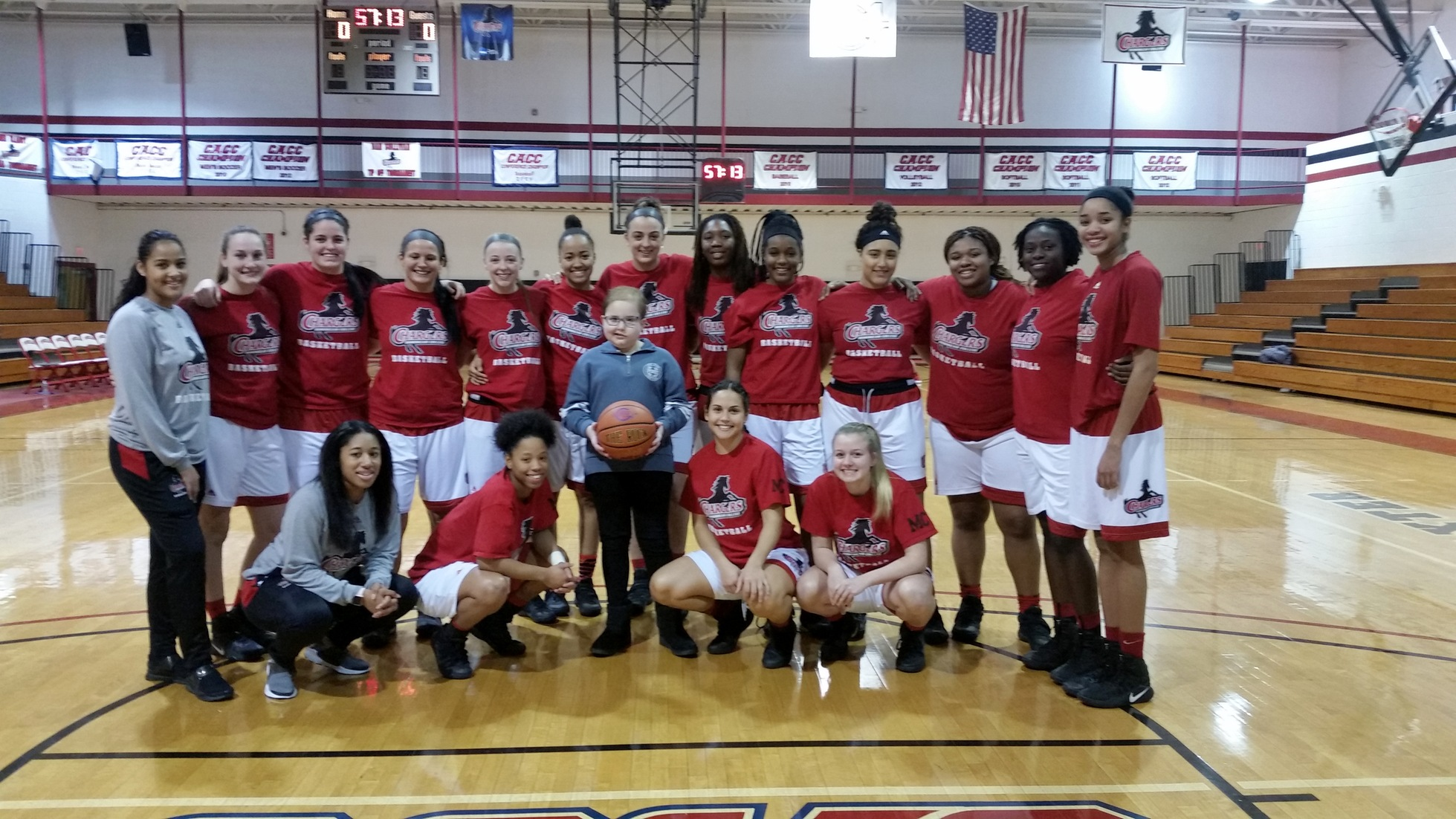 LADY CHARGERS GET WIN OVER GRIFFINS ON ALUMNI DAY