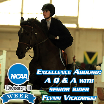 D3Week: Excellence Abound: A Q & A with senior rider Flynn Vickowski