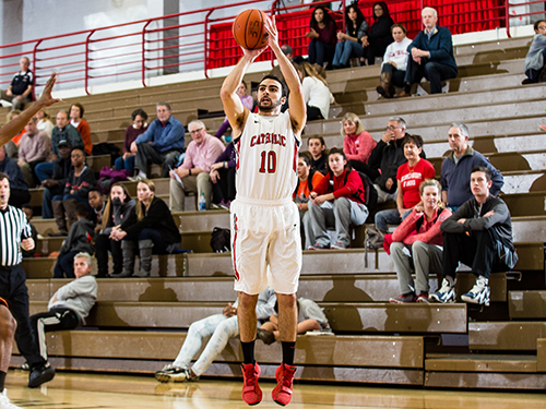 Khouri's Career Night Helps CUA Past Juniata, 83-60