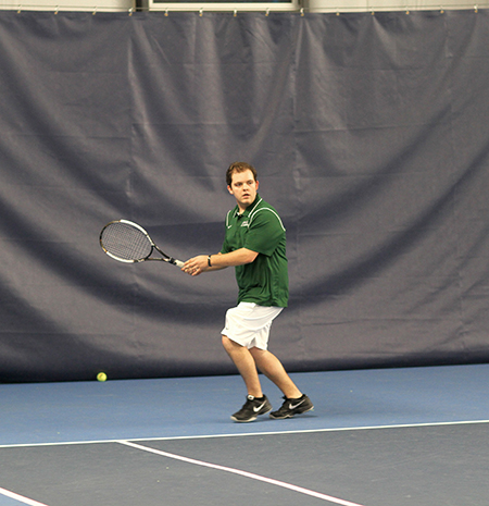 Men's tennis falls to Utica, 6-3; Beaudin records historic  win