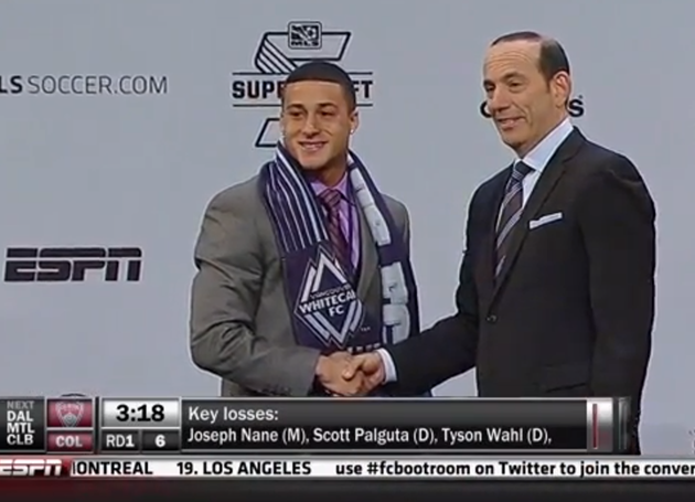 Santa Clara's Erik Hurtado Selected No. 5 Overall in 2013 MLS SuperDraft by the Vancouver Whitecaps FC