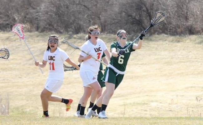 Sophomore Taylor Willsey scored three goals as Keuka's women's lacrosse team beat St. Elizabeth 22-1 Saturday (photo courtesy of Carly Volante, Keuka College Sports Information department).
