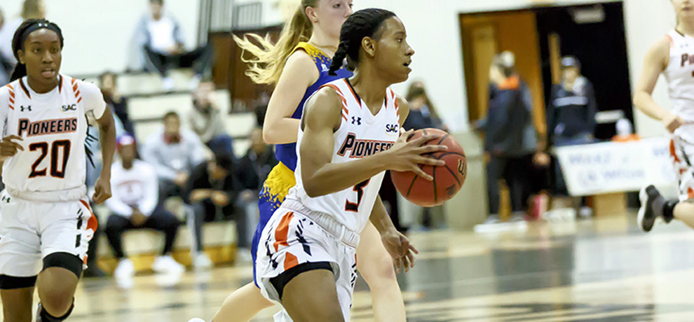 Pioneers clinch SAC Tournament berth with 66-50 win at Coker