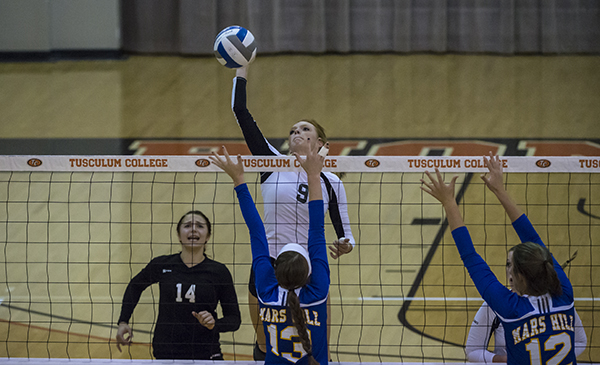 Volleyball rallies past Mars Hill 3-1