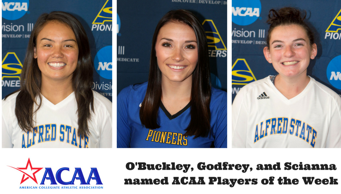 ACAA Players of the Week - Dannielle O'Buckley, Bryanna Godfrey, and Brooke Scianne