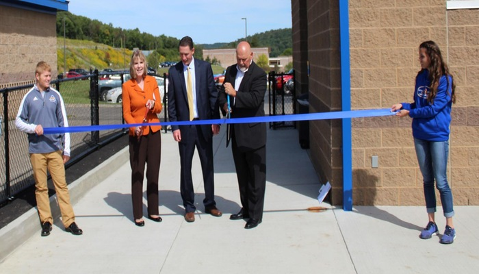 Alfred State Cuts Ribbon to New Locker Room Facility at Pioneer Stadium
