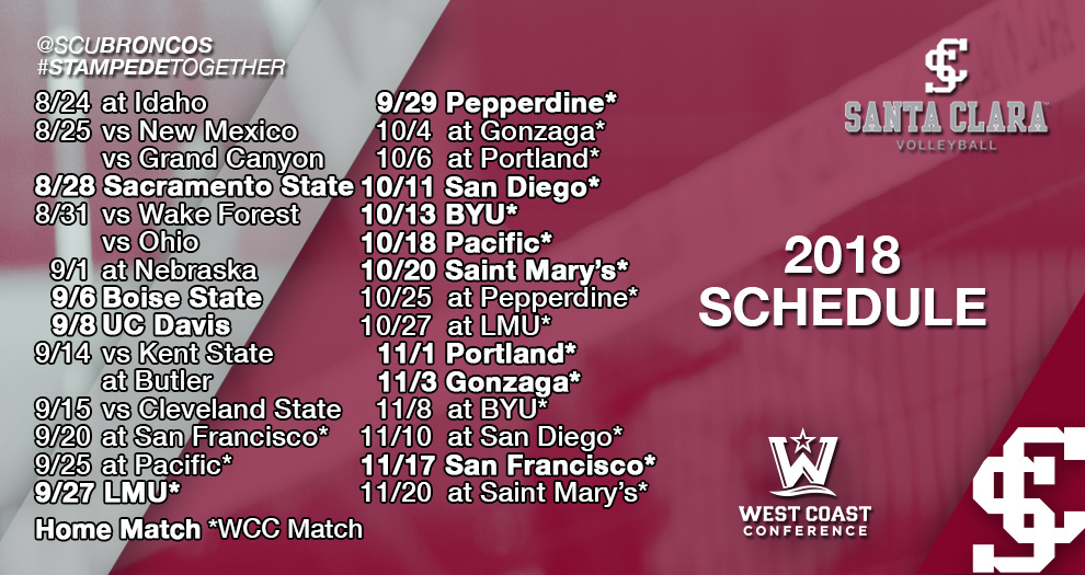 Volleyball Announces 2018 Schedule; Faces Defending National Champion Nebraska