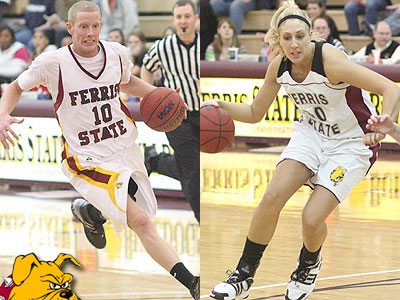 Seniors Austin Randel (left) and Andrea Clancy (right) are among this year's returnees for the Bulldog men & women, respectively